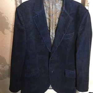 Ted Baker lovely whistle blue corduroy jacket 44